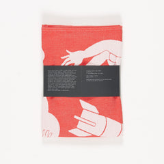 tea towel by Parra - red