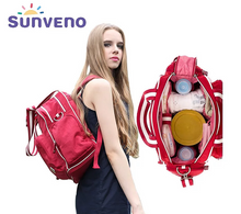 Sunveno Brand Quality High-Capacity Backpack Waterproof Diaper Bag