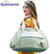 Sunveno fashion Maternity Baby Travel Bag Large Capacity Diaper Bag waterproof foil insulation pocket