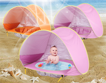 Portable Baby Beach Pool and Tent with Uv-protecting Sunshelter