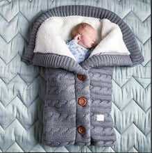 Newborn Baby Sleeping Bag Infant Button knit wrap Knit