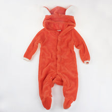 Longsleeve Coral Fleece Romper Boy/Girl With Tail
