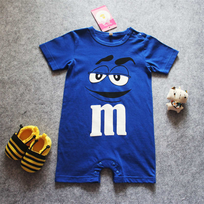 New 2017 Cute Baby Boy/Girl Romper Short Sleeve Cotton Jumpsuit