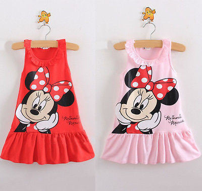 Red/Pink Baby Girls Minnie Mouse Party Dress