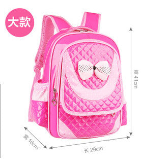 Hot new 2017 PU Leather children school bags & kids backpack Grades 1-3-6 small and large size