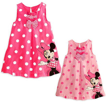 Minnie Mouse Sleeveless Casual Party Cotton Dress