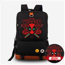 Glow in Dark Deadpool Backpack Comic Superhero Shoulder Backpack Luminous Bag