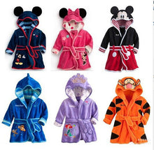 Kids Cartoon Mickey Minnie Mouse Bathrobes