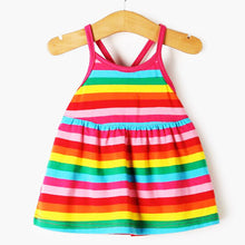 Touchcare Rainbow Stripes Baby Girl Dress