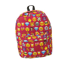 Emoji Printing School Bags Children Canvas Backpacks For Teenager Girls Eater series of large-capacity