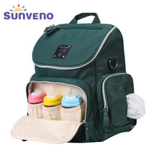 New Arrival SUNVENO Fashion Diaper Bag Backpack High Capacity Nappy Bag Baby Travel Backpack with Insulation Pocket
