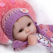 Reborn Baby Doll Girl Silicone Baby Doll Eyes Open With Clothes Hair 16inch 40cm Lifelike Cute Gifts Toy Girl