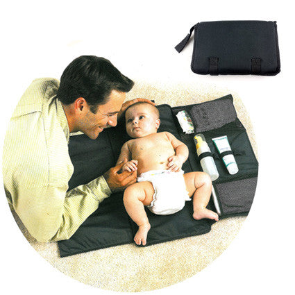 Portable baby changing mat and organizer