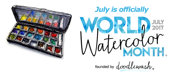 World Watercolour Month - July