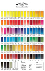 Professional Watercolour Colour Swatche