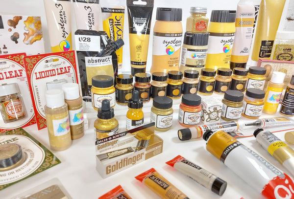 Gold paint products