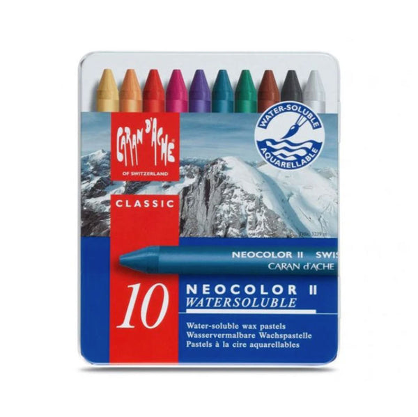 Caran d'Ache Neocolour - Water Soluble Wax Pastels