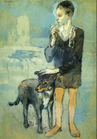 Boy with a dog' 1905 by Artist: Pablo Picasso