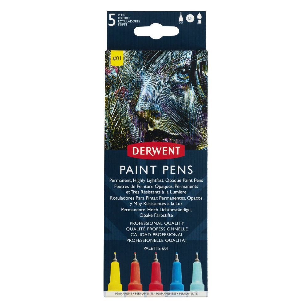 Derwent Paint Pens - Set of 5 #01