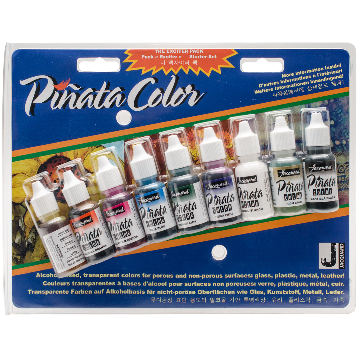 Piñata Alcohol Ink - Set of 9 - 0.5oz (14ml) - Exciter Set of 9