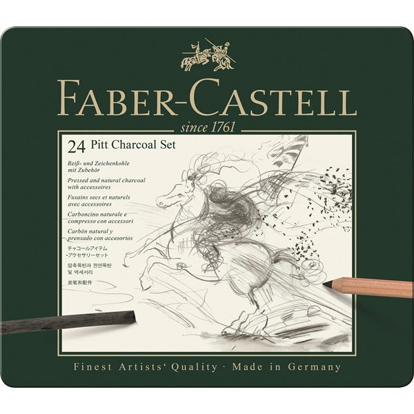 Faber-Castell Pitt Charcoal - Set of 24