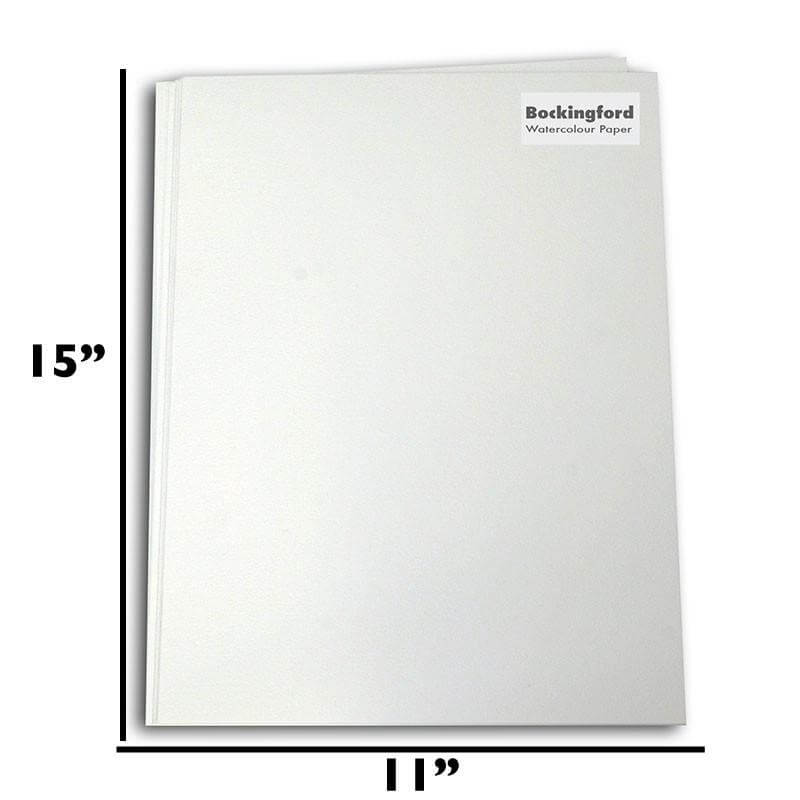 "Bockingford Watercolour Paper approx 15"" x 11"" - 20 sheets per Pk. - 140lb"