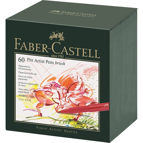 Faber Castell Pitt Artist Pens Brush - Set of 60