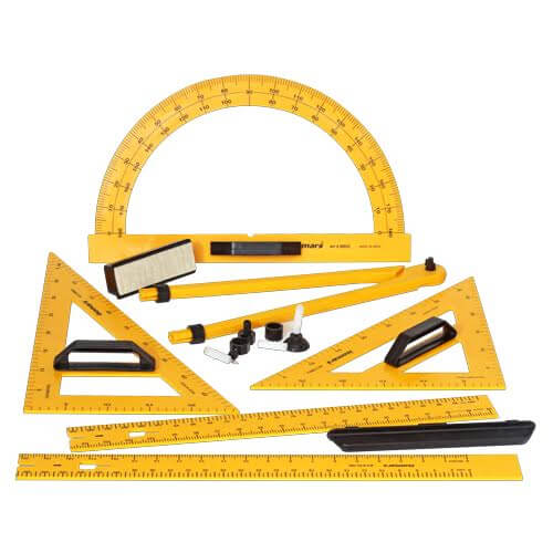 ARTdiscount ISOmars Blackboard Geometry Set of 8 - With Carry Bag