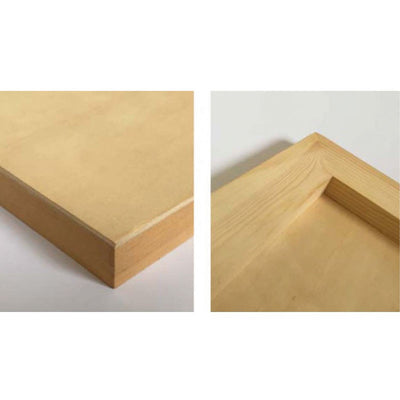 Sea white Unprimed cradled panel 18mm - A4 pack (3)
