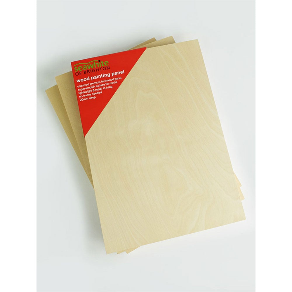 Seawhite Unprimed Cradled Panels - Packs of 3