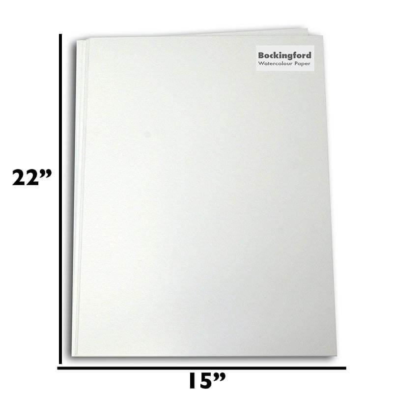 "Bockingford Watercolour Paper approx 22"" x 15"" - 10 sheets per Pk. - 140lb"