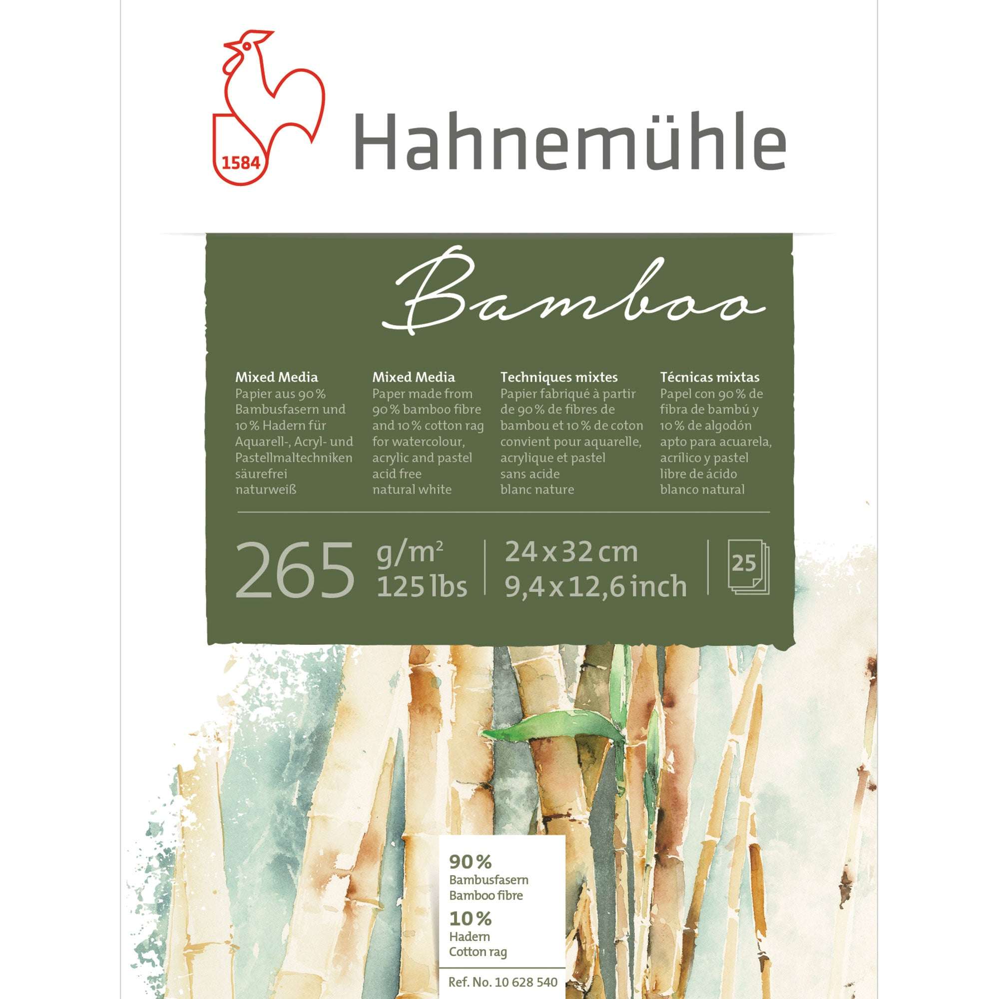 Hahnemühle Bamboo Mixed Media Paper Pads - 265gsm (125lbs)
