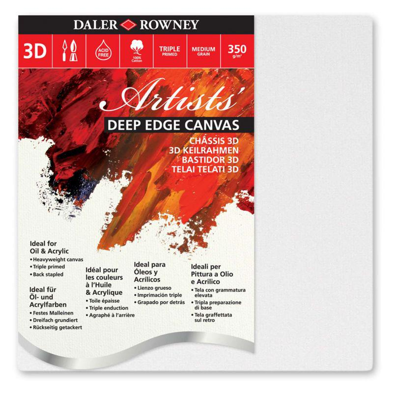 Daler-Rowney Premium Artists' Stretched Canvas - 3D (Chunky) - Multi Packs