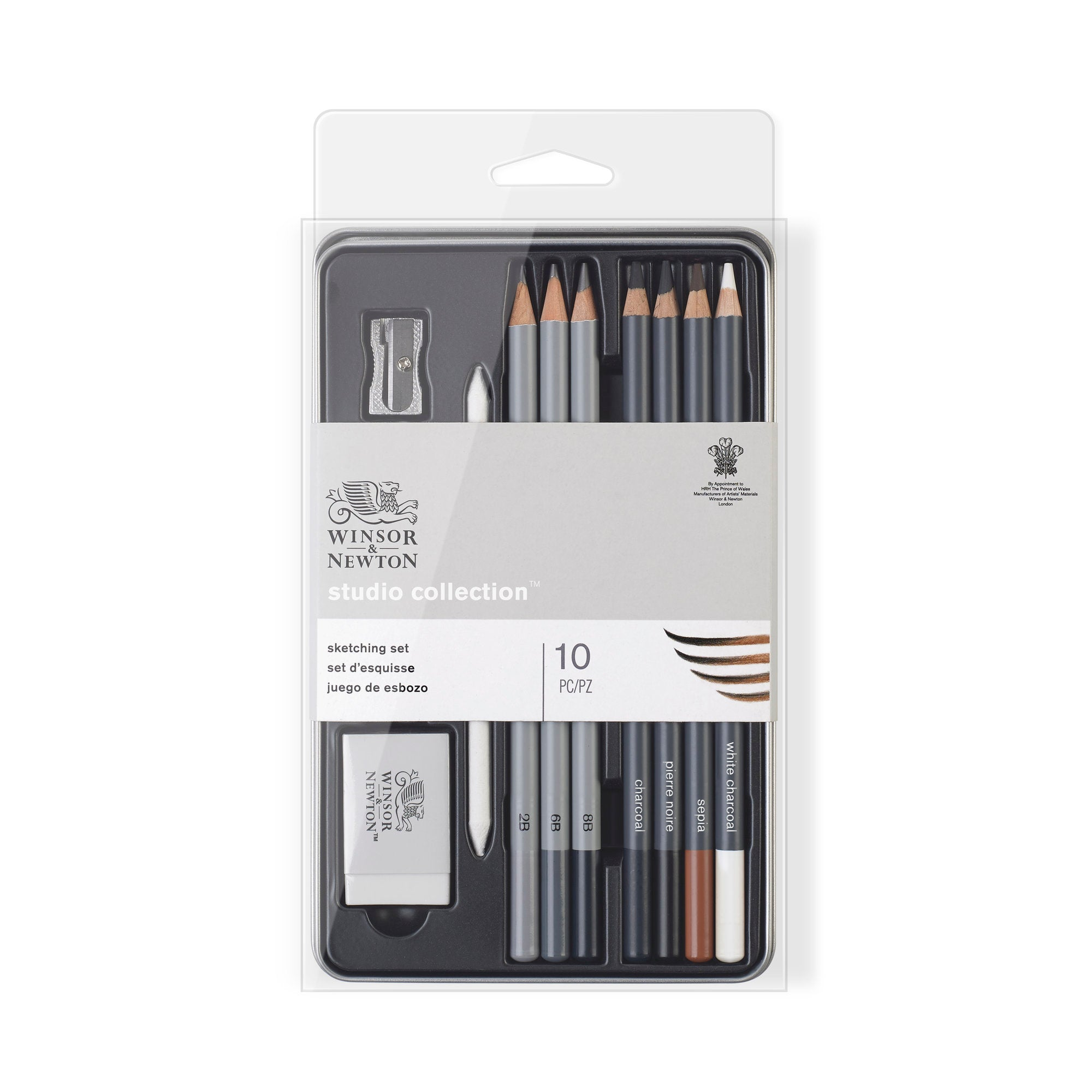 Winsor & Newton Studio Collection Sketching Pencil Set x10