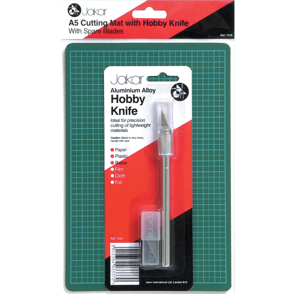 Jakar A5 Cutting Matt with Hobby Knife and 5-pack of Blades