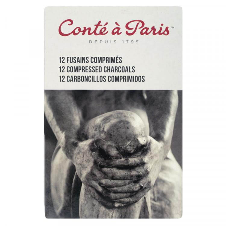 Conte 12 Compressed Charcoal Sticks