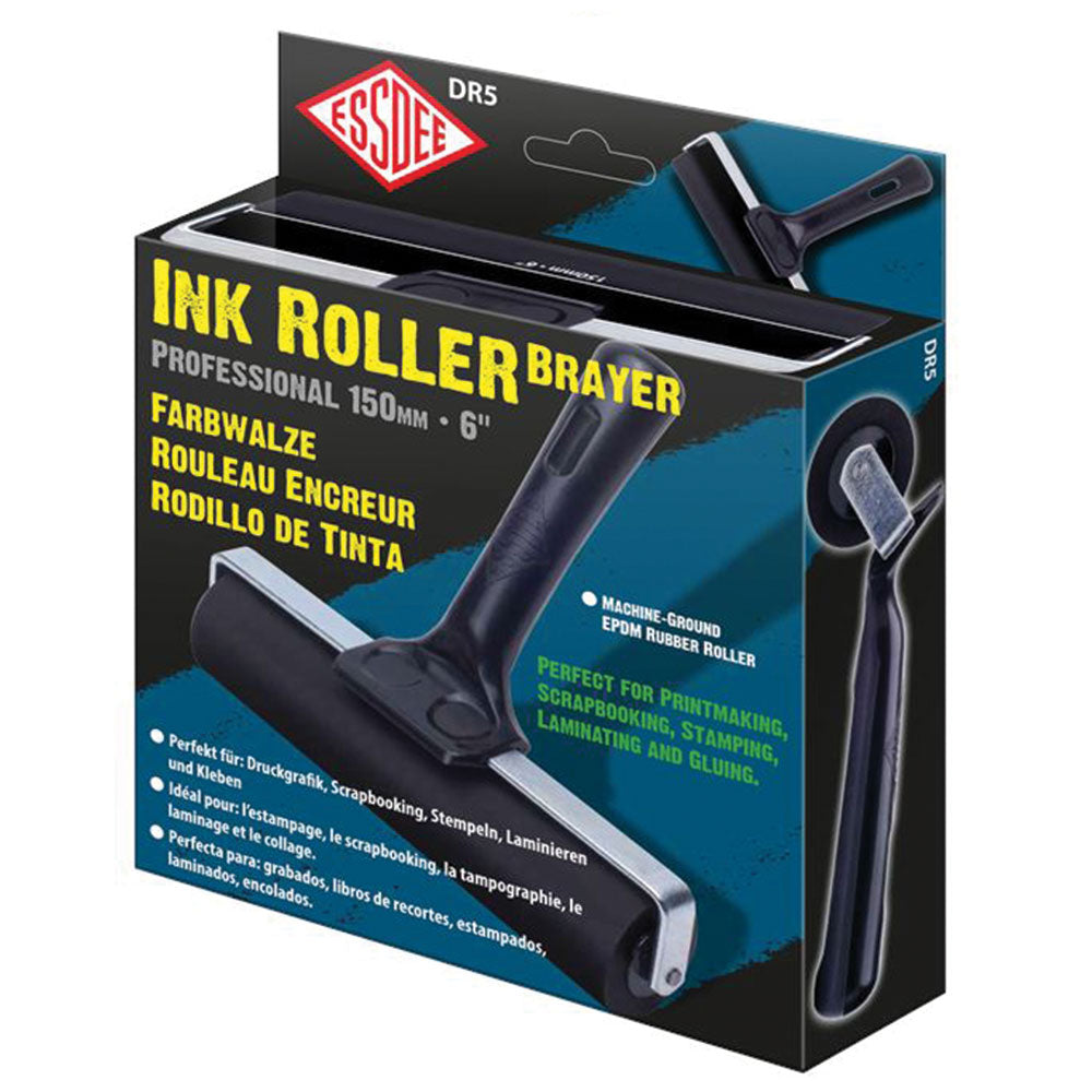 Essdee Professional Ink Roller (Black Handle) - 15cm