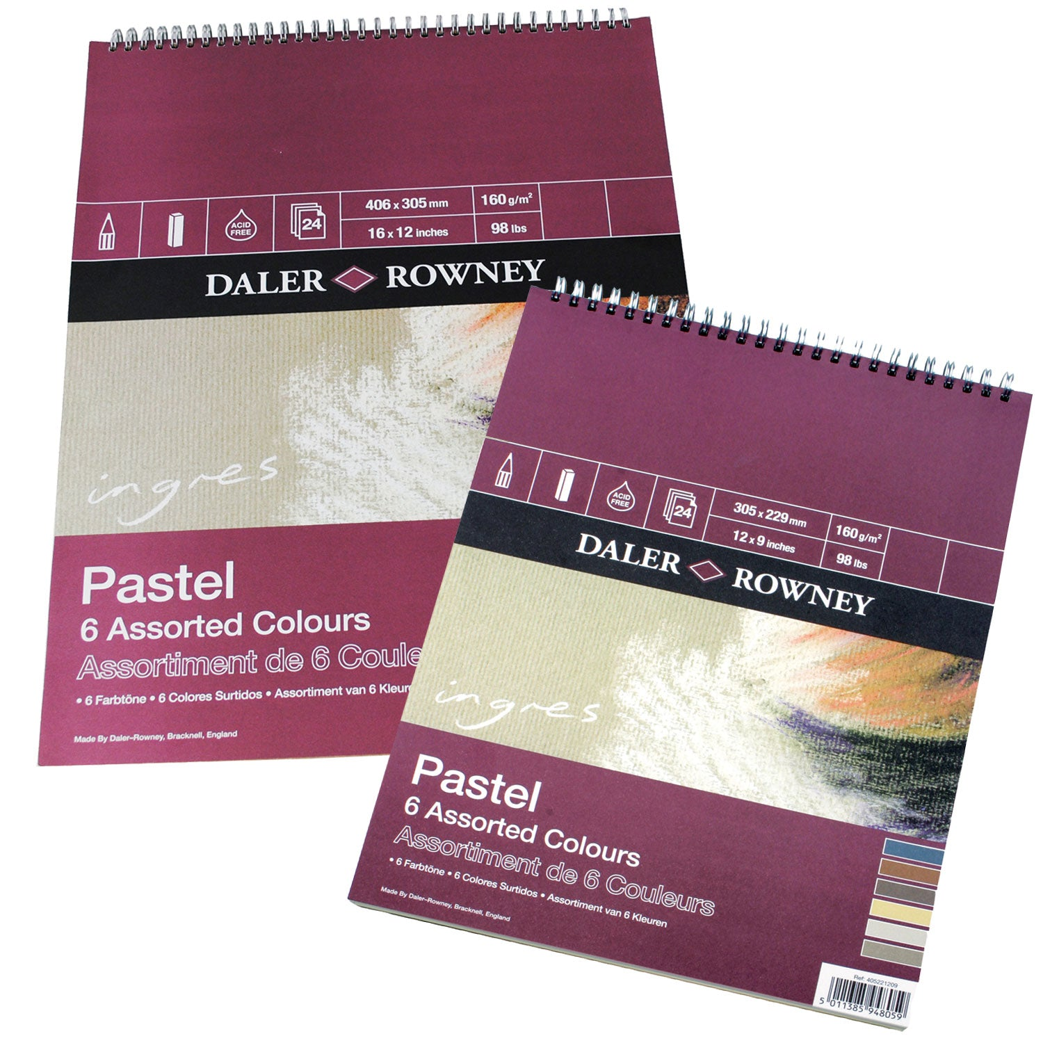 Ingres Spiral Pastel Pads Assorted Colours Pad