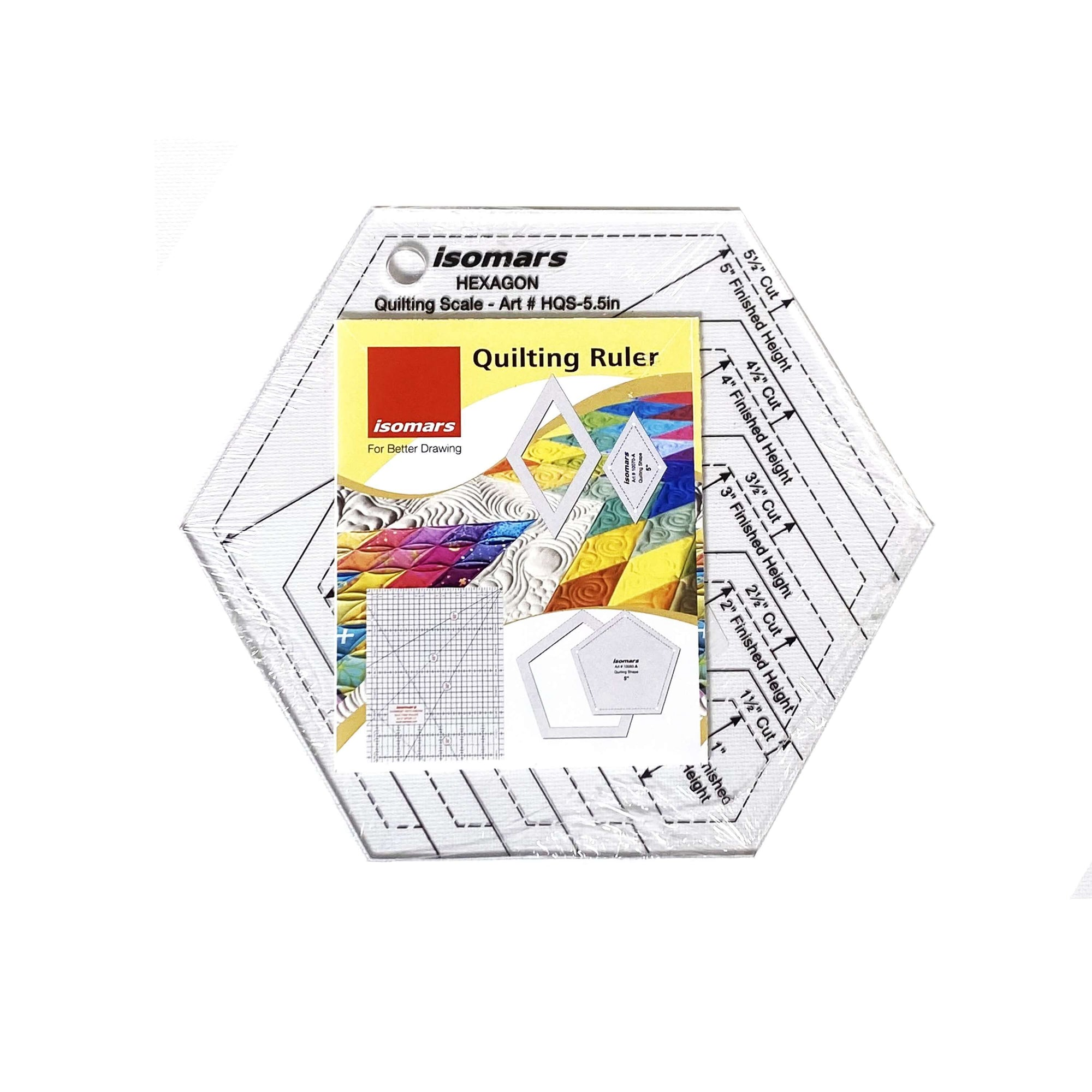 ARTdiscount ISOmars Hexagon Quilting Scale - 5.5""