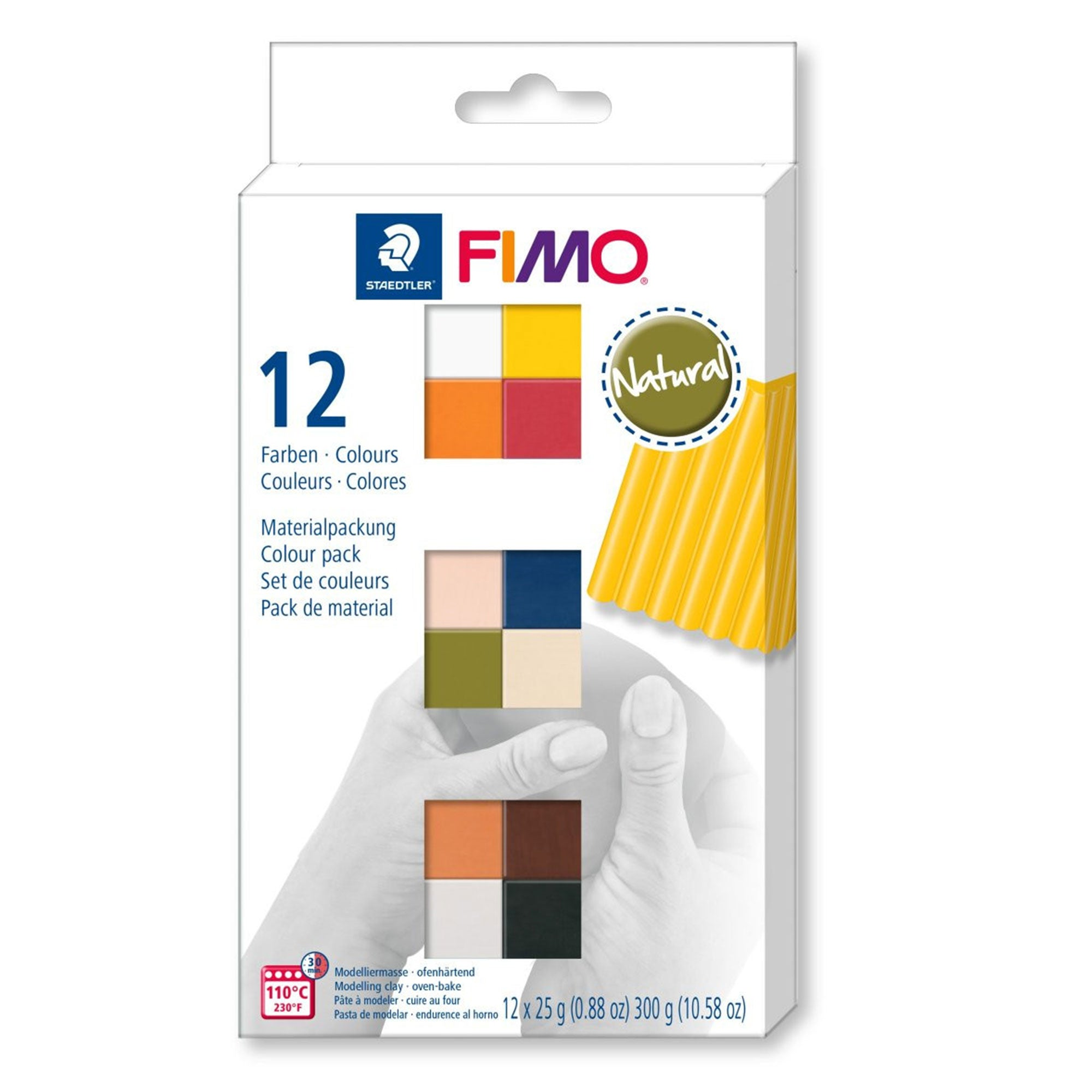 FIMO soft material pack with 12 half blocks - NATURAL