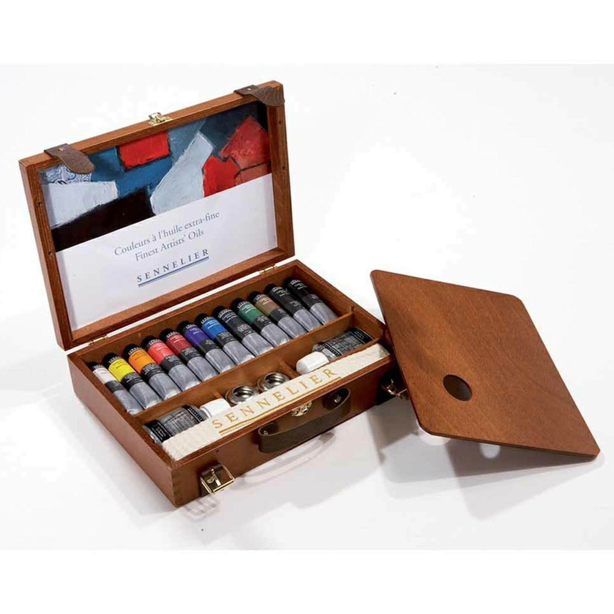 Sennelier Wooden Set Artists Oil Colour - Set of 12 Tubes