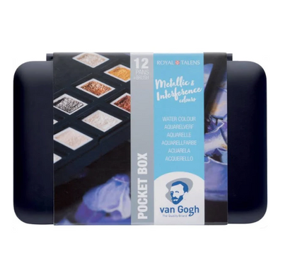 Van Gogh Pocket Watercolour Box - Metallic & Interference Colours