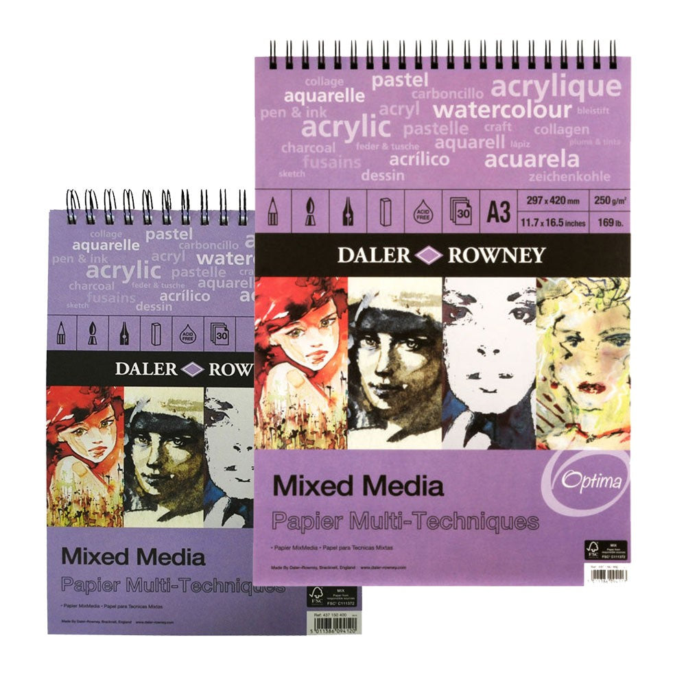 Daler-Rowney Mixed Media Spiral Pads