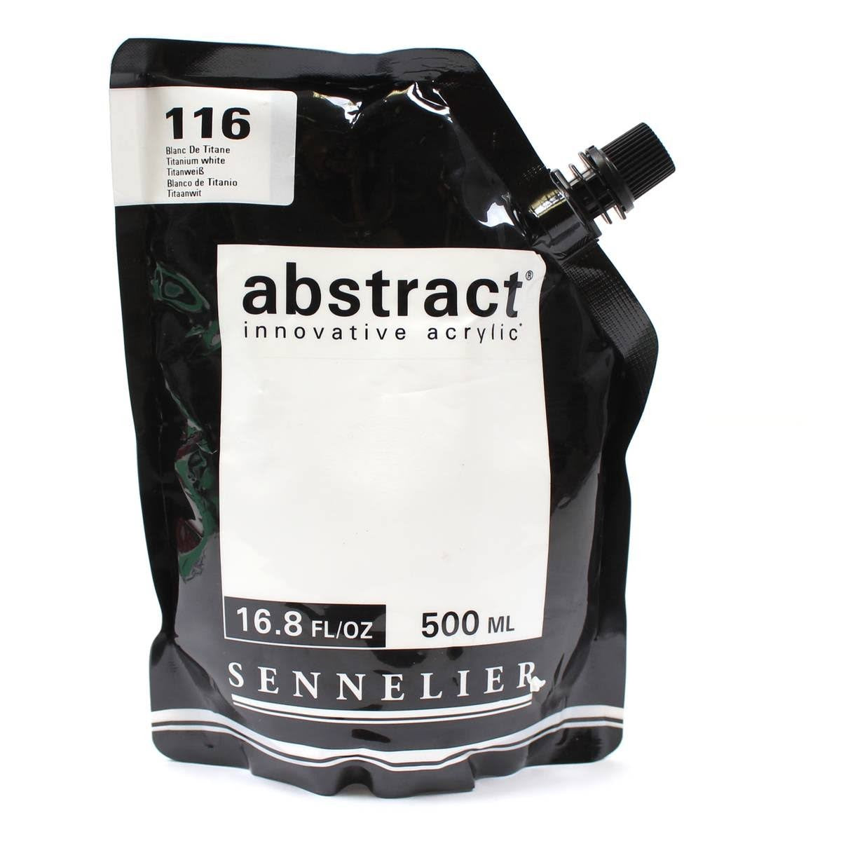 Sennelier Abstract Innovative Acrylic Paint 500ml (116 Titanium White)