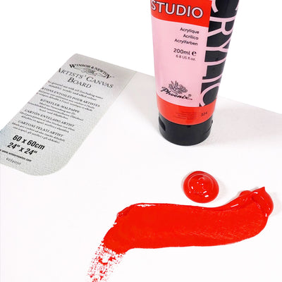 Trial Pack of STUDIO Heavy Body Acrylic Paints - Pack of 6 x 200mls Tubes