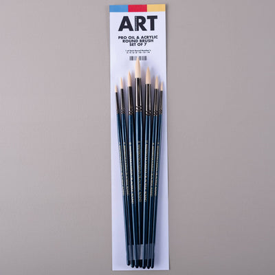 ARTdiscount Pro Oil & Acrylic Round Brush Set of 7