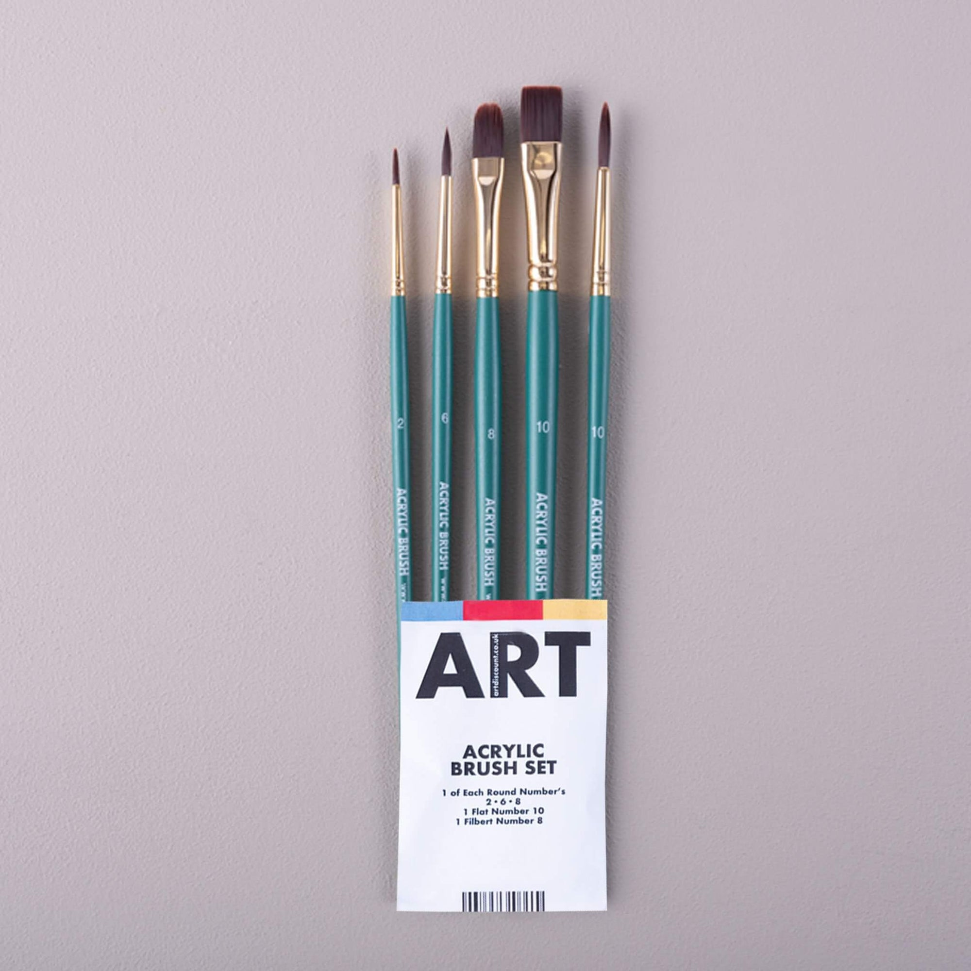 ARTdiscount SAMPLE Acrylic Brush Set of 5 Brushes