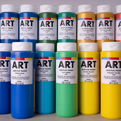 ARTdiscount Acrylic Paint in 500ml - Single Bottles