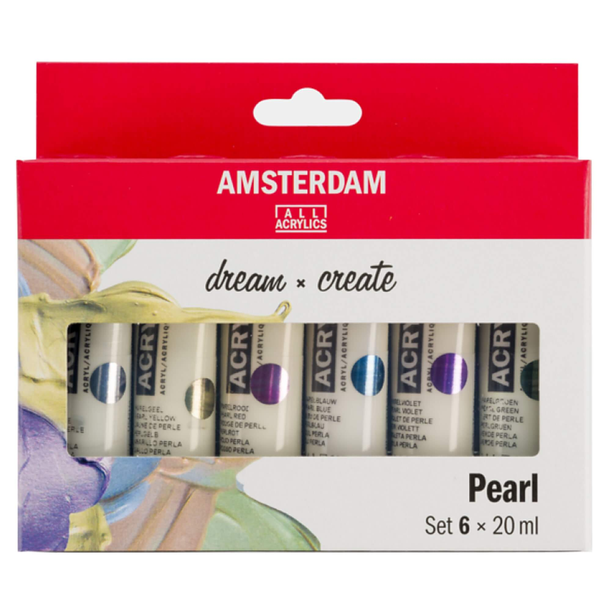 Amsterdam Acrylic Paint Pearl Colours Set 6 x 20ml