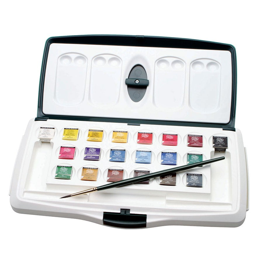 Daler Rowney Professional Artist's Watercolour 20 Half Pan Set